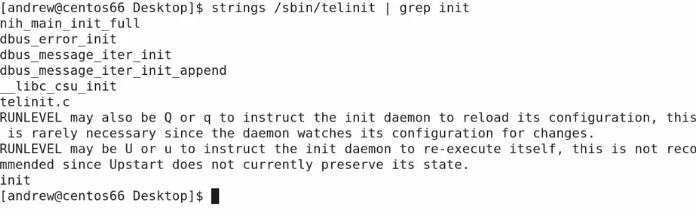 strings sbin telinit  grep init