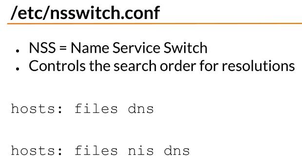 etc nsswitch