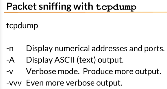 packet sniffing tcpdump